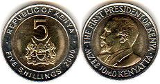 coin Kenya 5 shillings 2009
