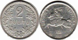 coin Lithuania 2 litu 1925