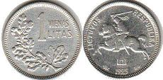 coin Lithuania 1 litas 1925