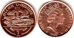 coin Isle of Man 1 penny 1995