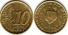 coin Netherlands 10 euro cent 2001