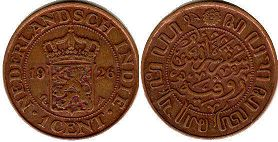 coin Netherlands East-Indies 1 cent 1926
