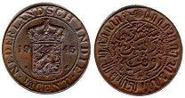 coin Netherlands East-Indies 1/2 cent 1945