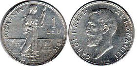 coin Romania 1 leu 1914
