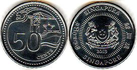 coin Singapore 50 cents 2013