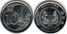 coin singapore10 cents 2013