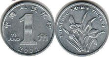coin chinese 1 chiao 2002