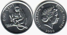 coin Cook Islands 1 cent 2003
