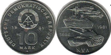 coin East Germany 10 mark 1981