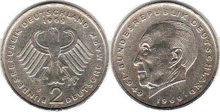 coin Germany 2 mark 1969
