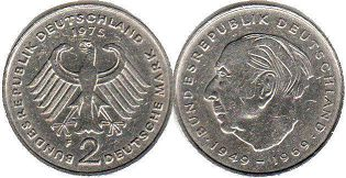 coin Germany 2 mark 1975