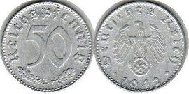 coin Nazi Germany 50 pfennig 1942