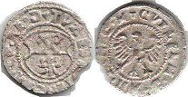 coin Riga shilling ND (1539-1563)
