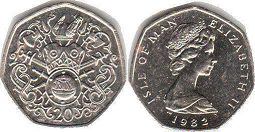 coin Isle of Man 20 pence 1982