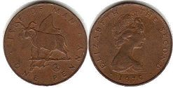 coin Isle of Man 1 penny 1979