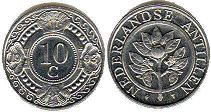 coin Netherlands Antilles 10 cents 1999