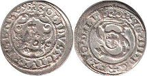 coin Riga solidus 1595