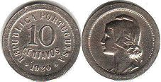 coin Portugal 10 centavos 1920