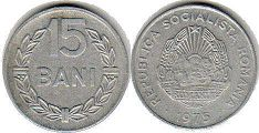coin Romania 15 bani 1975