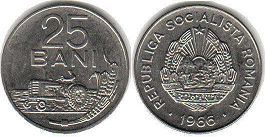 coin Romania 25 bani 1966