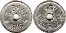 coin Romania 5 bani 1906