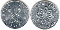 coin South Arabia 1 fils 1964