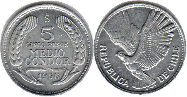 Condor FREE SHIP Chile Bin A Details about  /1936 CHILE 10 CENTAVOS High Quality Coin