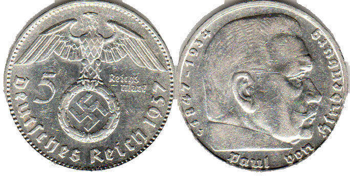 Nazi Germany - online free coins catalog with photos and