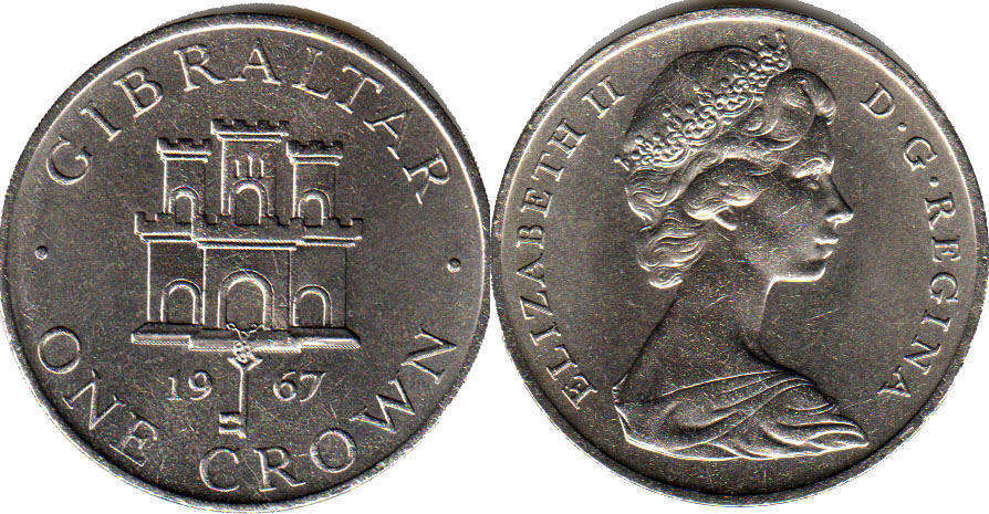Gibraltar - online free coins catalog with photos and values