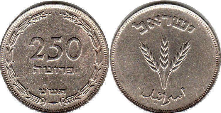 Coin Israel 250 Pruta 1949