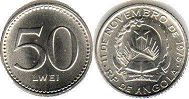 coin Angola 50 lwei ND (1977)