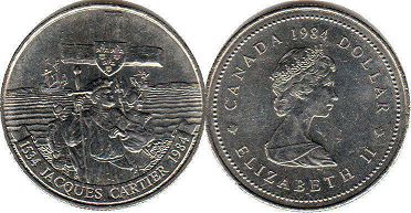 coin canadian commemorative coin 1 dollar 1984