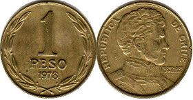 coin Chilli 1 peso 1978