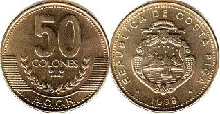 coin Costa Rica 50 colones 1999