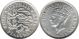 coin Cyprus 9 piasters 1940