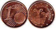 coin Cyprus 1 euro cent 2009