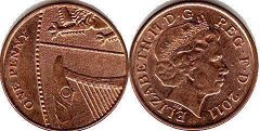 coin UK coin 1 penny 2011