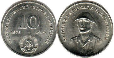 coin East Germany 10 mark 1976