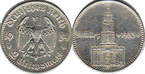 coin Nazi Germany 2 mark 1934