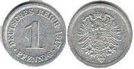 coin German Empire 1 pfennig 1917