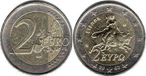 coin Greece 2 euro 2002