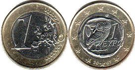 coin Greece 1 euro 2007