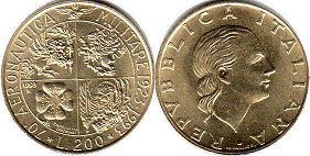 coin Italy 200 lire 1993