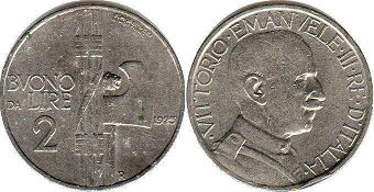 coin Italy 2 lire 1923