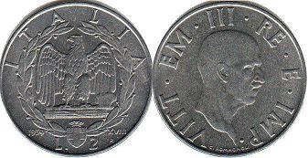 coin Italy 2 lire 1939