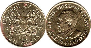 coin Kenya 10 cents 1978
