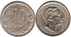 coin Luxembourg 10 centimes 1901