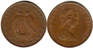 coin Isle of Man 2 new pence 1975