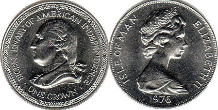 coin Isle of Man crown 1976