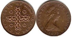 coin Isle of Man 1 new penny 1975